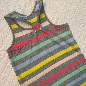Gap Knot Tank Multicolor Stripe Dress